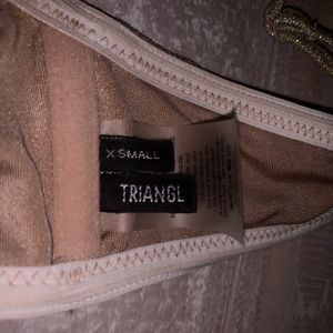 triangl swimwear Swim - Mica gold top triangl